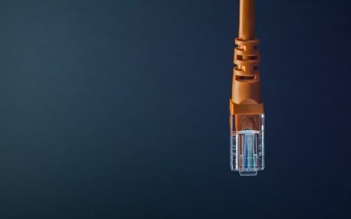 network cable dangling 1